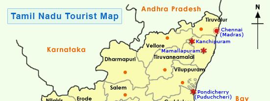 Tamil Nadu Tourist Map Tamil Nadu Map, Tamil Nadu Tourist Map, Tourist Map of Tamil Nadu Tamil Nadu Tourist Map