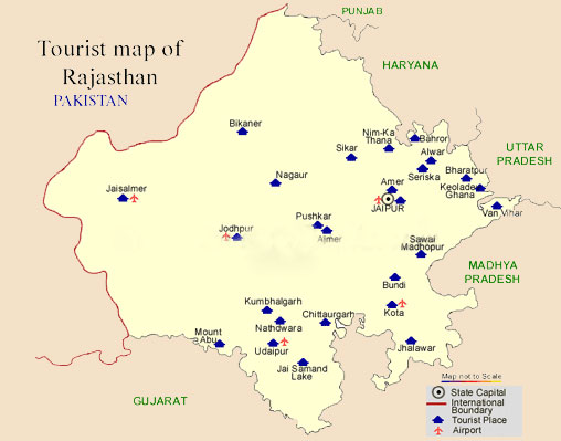 Tourist Map Of Rajasthan Travel Map, Tourist Map, Rajasthan Travel Map, Tourist Map of