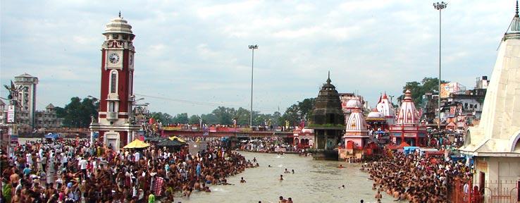 Har ki pauri, Mahal kumbh mela, Haridwar,  Uttarakhand