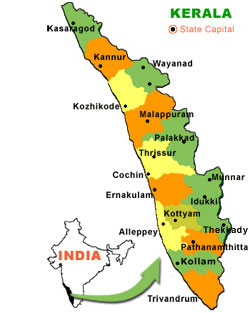 Kerala Map With Cities Kerala Cities, Kerala Districts, Kerala Map India Kerala Map With Cities